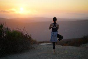 yoga solnedgang