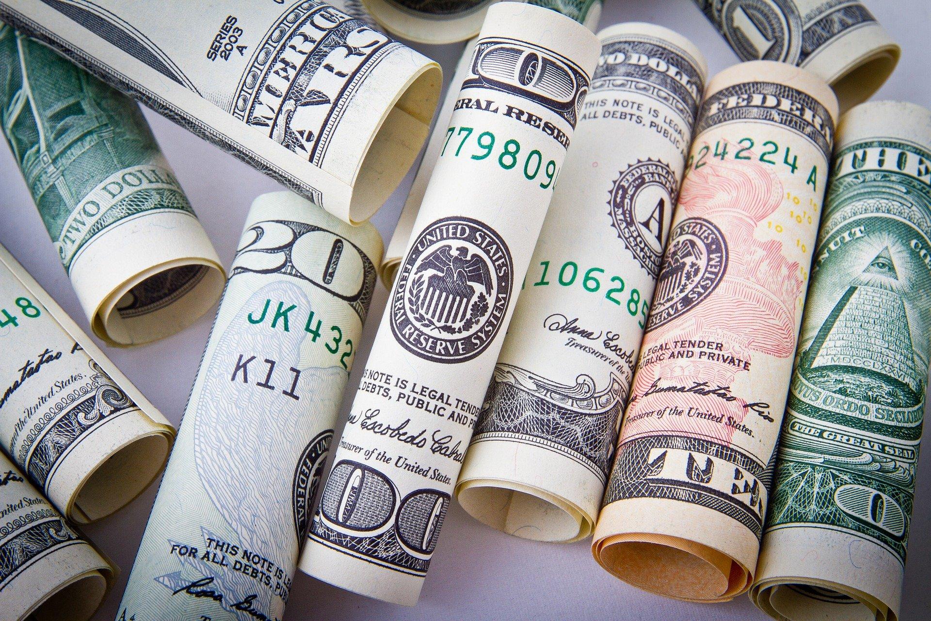 Forskellige pengesedler