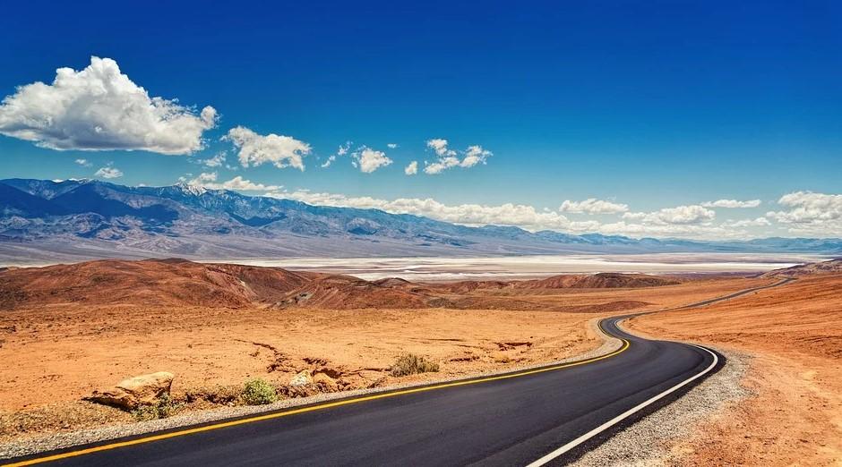 Vej gennem Californien